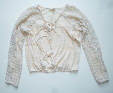 Anthropologie EUC Needlework Peasant Top by Meadow Rue - Knit Top - SZ XS