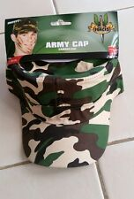 CAP HAT CAMO CAMOUFLAGE ARMY MILITARY Smiffy's  COSTUME ACCESSORY