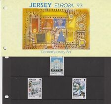 JERSEY PRESENTATION PACK 1993 Europa Contemporary Art STAMP SET 10% OFF 5