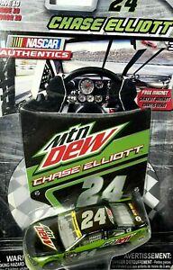 2016 Wave 10 Chase Elliott Mountain Dew #24 NASCAR Authentics 1/64th Diecast