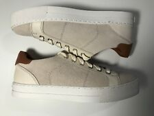 Coach Paddy Women's Sneaker A01987 Chalk Ivory Suede Lace Up Size 8 Leather New