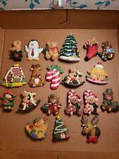 Lot of 20 Vintage Christmas Santa Refrigerator Magnets