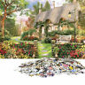 1000 Piece Jigsaw Puzzle England Cottage Landscapes Toys Educational Y5X8
