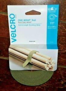 Velcro One-Wrap Roll -Cut to Length Bundling Strap- (Tan - 12ft x 3/4in) 91751