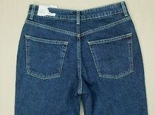 Topshop Moto High Waisted MOM Jeans Women's Size 28 / 6 Petite Dark Wash NWT