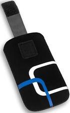 Slim Case Tasche ´Style` m. Lasche f HTC Desire HD Etui blau weiß