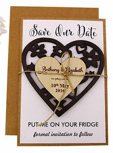 Engraved Wooden Magnet Rustic Wedding Save the Date Wooden Magnet-MG78