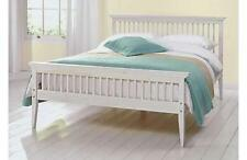 Double Bed Wood Frame 4ft6 Shaker White + Mattress