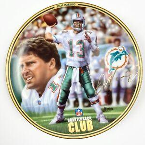 "Dan Marino NFL Quarterback Club Bradford Exchange 1996 Collector 8.25"" Plate"