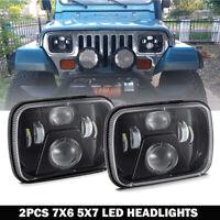 120W DOT 5X7 7x6 LED Headlight Pair HI-Lo Beam Projector for Toyota Pickup Truck