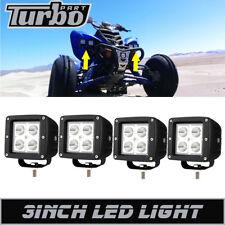 2 Pair 3x3INCH LED WORK LIGHT BAR Fit Yamaha Raptor 660 700 YFZ450 Polaris RZR