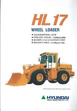 Equipment Brochure - Hyundai - HL 17 - Wheel Loader - 1994 (E4917)