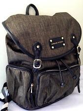 NWT Adrienne Vittadini Golden Olive Nylon Backpack w/ Workbook Sleeve Bag $210