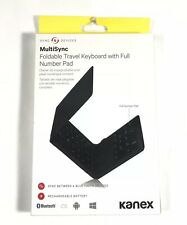Kanex MultiSync Foldable Travel Keyboard with Full Number Pad Bluetooth