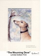 Greyhound Whippet Print The Mourning Dove Gorgeous Signed Art Kevin Z Arttogo