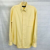 Brooks Brothers Country Club Mens M Shirt Yellow Plaid Supima Cotton #W