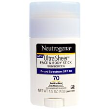 Neutrogena, Ultra Sheer Face & Body Stick, Sunscreen, SPF 70, 1.5 oz (42 g)