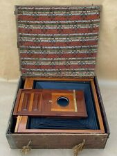 Antique 18x22 In. Very Large Dry Plate Wooden Camera & Film Holder 11x14 & 14x17