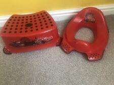 Disney Cars Lighting McQueen Toilet Seat And Stool