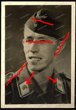 Foto-Portrait-Panzer-Soldat-Fallschirm-Panzer-Div 1 HG-Tank-Luftwaffe-