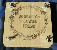FLOWER PRESS WITH YOUR BESPOKE PERSONALISED ENGRAVED FOR WILD GARDEN FLOWERS