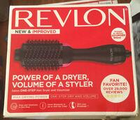 Revlon One-Step Hair Dryer And Volumizer Hot Air Brush, Black