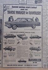 1963 newspaper ad for Rambler - Trade Parade to Rambler, Classic 770 & 5 models