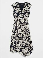 Banana Republic Dress Floral Midi Wrap Dress NEW NWT MSRP $99 SZ 2,,4,6