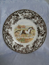 SPODE WOODLAND HORSES PAINT 10.75 INCH DINNER PLATE RARE HORSE PLATE BRAND NEW