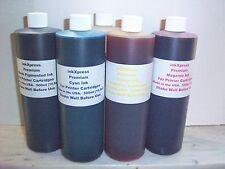 BULK INK REFILL COLOR SET 5 x 500ml(16.9oz) EACH FOR EPSON HP CANON  CARTRIDGES