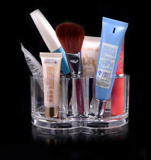 US Plum Flower Clear Acrylic Shaped Cosmetic Lipstick Brush Holder Makeup Case