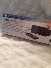 Mesqool AM/FM Digital Dimmable Projection Alarm Clock Radio with 1.8 LED Display