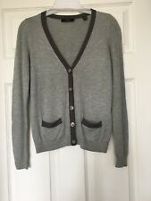 ESPRIT Gray Cardigan Button Front Small Pockets Size XS