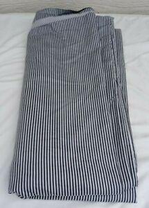 Brooklinen Classic Duvet Cover Queen Graphite/Steel Oxford Gray Stripe