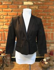 Women's CALVIN KLEIN 6P Black Short Tailored Dressy Lined Stretch Blazer Jacket