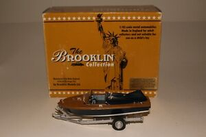 Brooklin Models, 1955 Classic American Speedboat with Trailer, 1/43 Scale Boxed