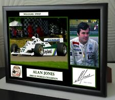 "Alan Jones  F1 Framed Canvas Print Signed ""Great Gift or Souvenir"""
