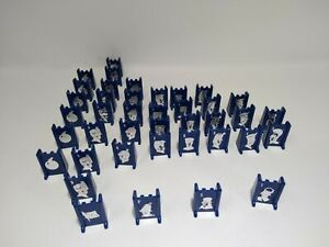 Vintage 1961 STRATEGO 40 (all) Blue Replacement Game Pieces by Milton Bradley