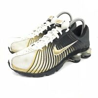 Nike Shox Experience Womens Black Gold White Running Shoes 318684-071 Size 6