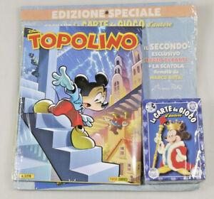 PRL) WALT DISNEY TOPOLINO 3378 EDIZIONE SPECIALE MAZZO CARTE CARD CARDS CARTES