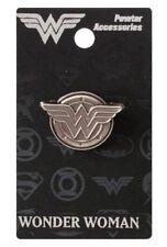DC Comics Wonder Woman Grey Pewter Metal WW Logo Lapel Pin NEW UNUSED