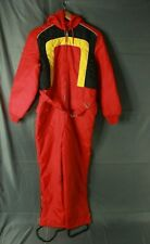 Vintage JC Penney Ski Snow Suit Coveralls Red Yellow Navy Youth/Teen Size 16