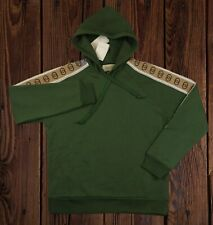 Gucci Cotton jersey hooded sweatshirt Mit Gucci Stripes
