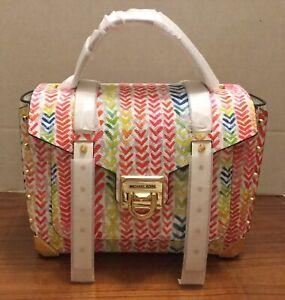 NWT Michael Kors Manhattan Medium Top Handle Leather School Bag  $358.00