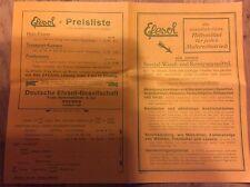 Werbeblatt, EFESOL, SPEZIAL-WASCH- UND REINIGUNGSMITTEL, 1925