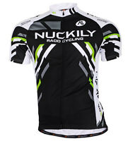 Mens Cycling Race Tops Uniforms Short Sleeve Jersey Wear Bike Riding Jackets MTB