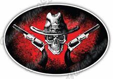 "Old Western Sheriff Hat Wild West Car Bumper Window Vinyl Sticker Decal 6""X4"""