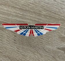 Aston Martin Domed Logo Sticker 3D Resin Gel Overlay Italy Badge Car Multi 100mm