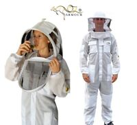 OZ ARMOUR BEEKEEPING SUIT VENTILATED WITH TWO VEILS FENCING & ROUND BRIM HAT