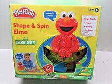 2010 Hasbro Play-Doh Sesame Street Shape & Spin Elmo - Complete in Box L@@K RARE